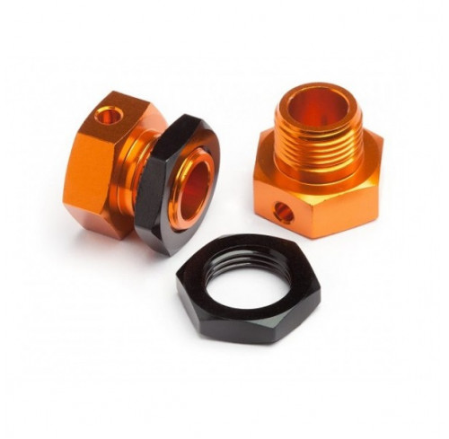 6.7MM HEX WHEEL ADAPTER TROPHY BUGGY (ORANGE/BLK) (2) HPI