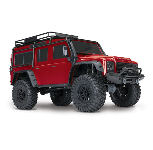 TRX4 Scale And Trail Crawler Defender Red 1/10 Ready To Fun Traxxas