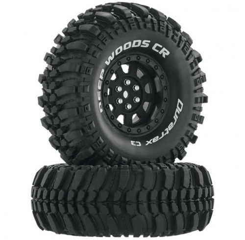 Pneus Deep Woods CR C3 Mounted 1.9 Crawler Black Super Soft (2) Duratrax