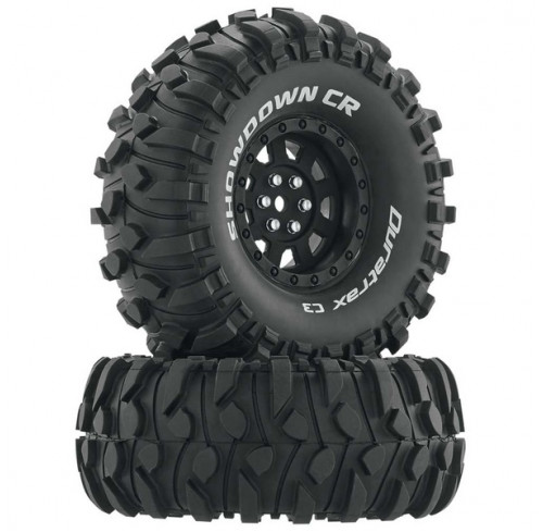 Pneus Showdown CR C3 Mounted 1.9 Crawler Black Super Soft (2) Duratrax