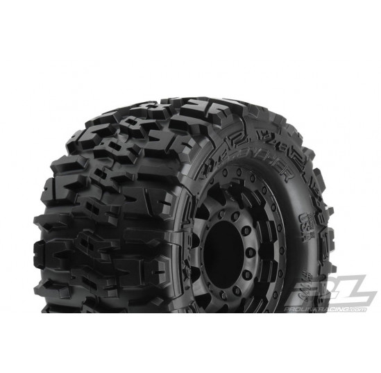 PNEUS TRENCHER 2.8 ALL TER. TYRES ON BLK F11 WHEELS (17MM) (2) PROLINE