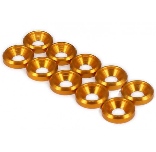 Aluminium M3 Shock Tower Washer Golden (10) Thunder Innovation