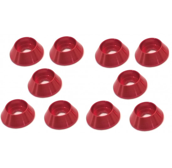Aluminium M3 Shock Tower Washer Red (10) Thunder Innovation