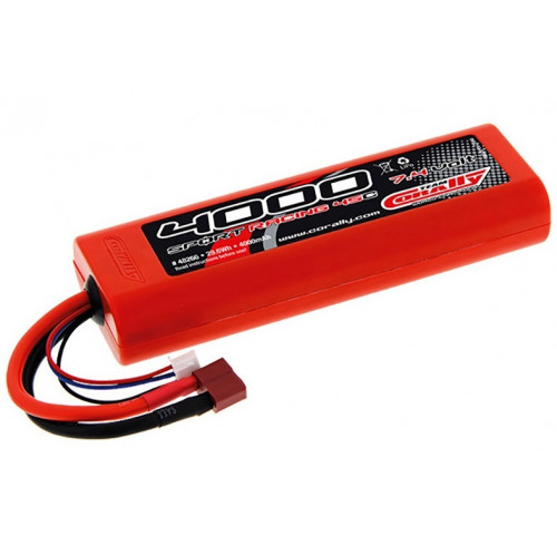 Bateria 7.4V 4000mAh 45C Sport Racing LiPO TEAM CORALLY