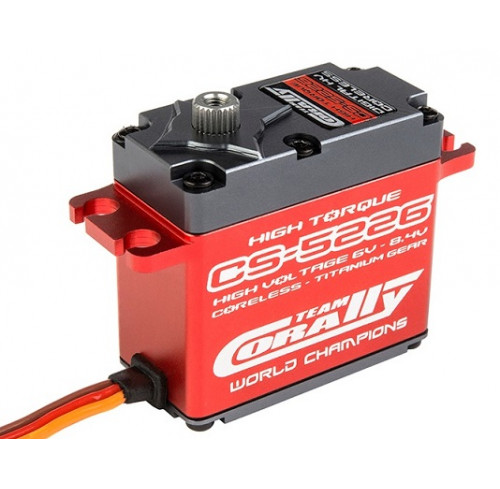 Servo Digital CS 5226 HV 8.4V Titanium Gear Coreless (25.6kg/0.07sec) Team Corally