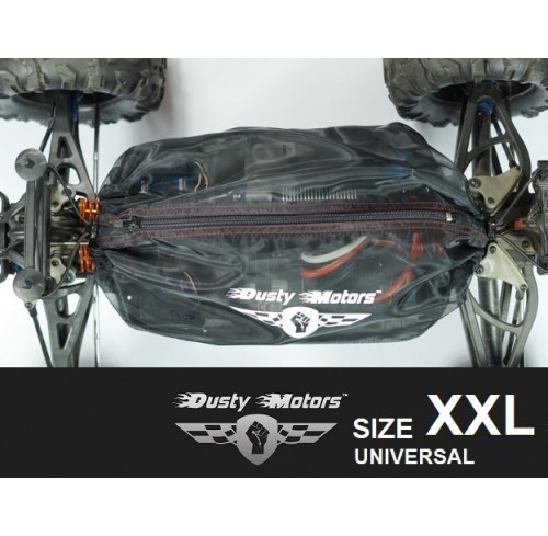 UNIVERSAL SIZE XXL Adjustable Protection Cover BLACK Dusty Motors
