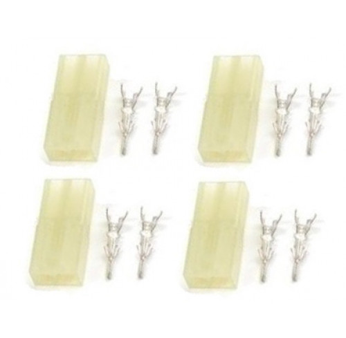 Mini Tamiya connector with gold plated pins, Female (4pcs) GForce