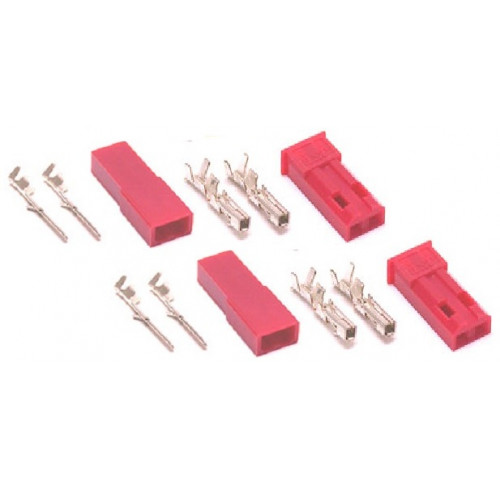 BEC connector with gold plated pins, Male + Female (2pairs) GForce
