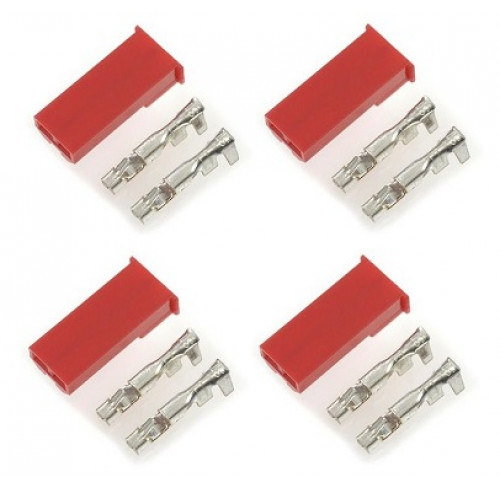 BEC Connector w/ Gold Plated Pins Male (4pcs) GForce