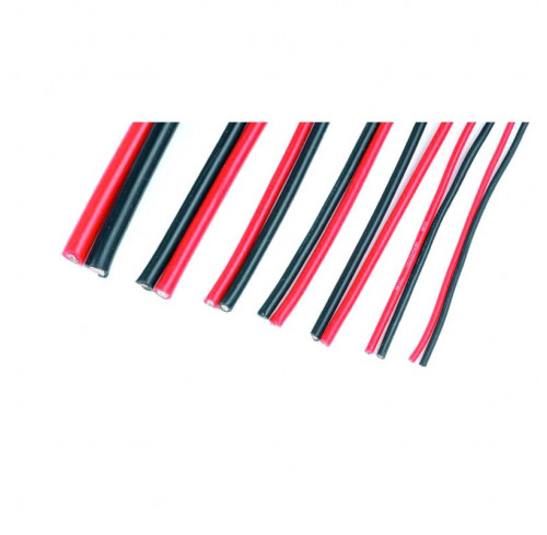 Cabo Silicone Superflex 0,35mm 22AWG, 120 strands (1m Red & 1m Black) GForce