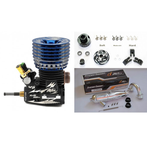 Combo Motor Ryan Lutz Worlds Edition Competition .21 Turbo Blue Edition + EFRA2130 + Kit Embraiagem 13T ALPHA