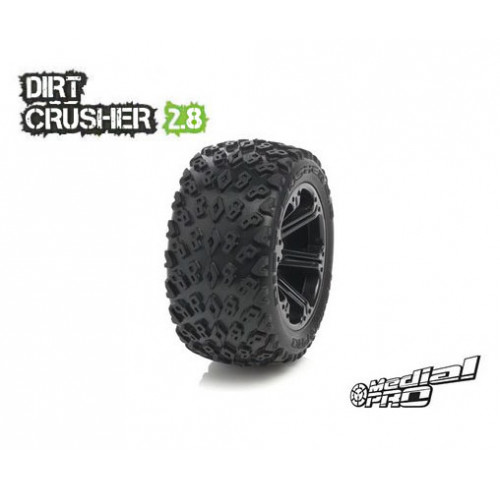 Pneus Dirt Crusher 2.8 Mounted on Addict 2.8 Black Wheels Medial Pro (2)