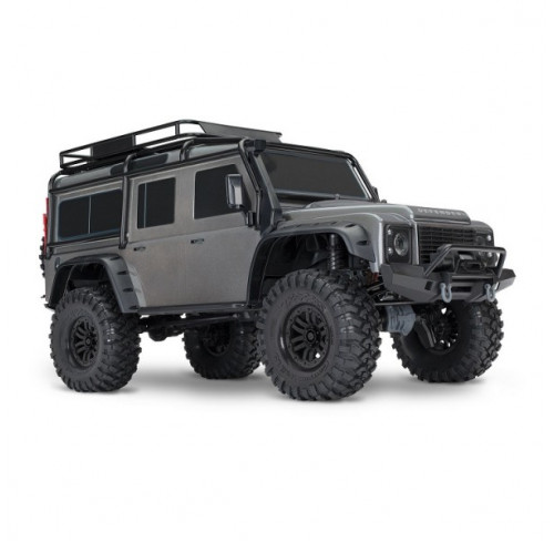 TRX4 Scale And Trail Crawler Defender 1/10 Grey Ready To Fun Traxxas