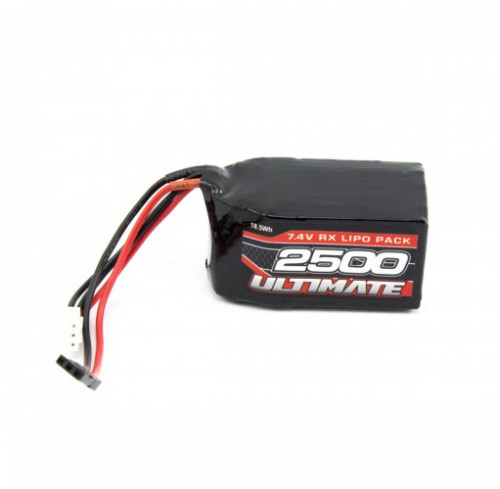Bateria LiPO 7.4V 2500mAh Hump Pack JR p/ Receptor ULTIMATE RACING